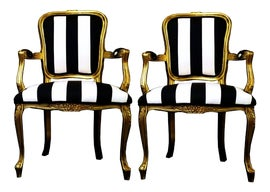 Image of Gold Bergere Chairs