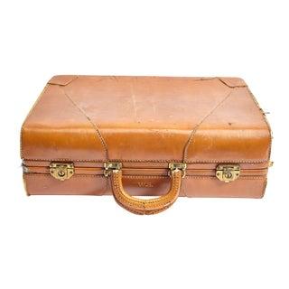 Vintage Caramel Colored Suitcase