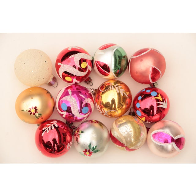 Americana Miniature Blown Glass Christmas Ornaments - Set of 12 For Sale - Image 3 of 6