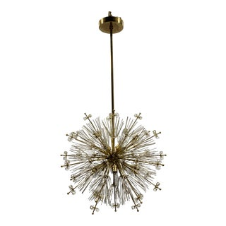Custom Brass Sputnik Chandelier in the Style of Emil Stejnar & Paavo Tynell For Sale