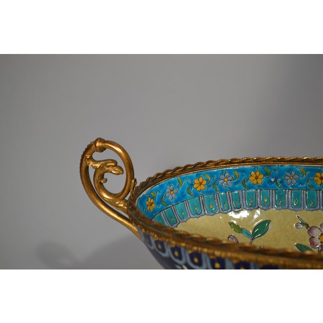 Antique French Majolica Longwy Pottery Jardiniere circa 1890-1900 For Sale - Image 4 of 6