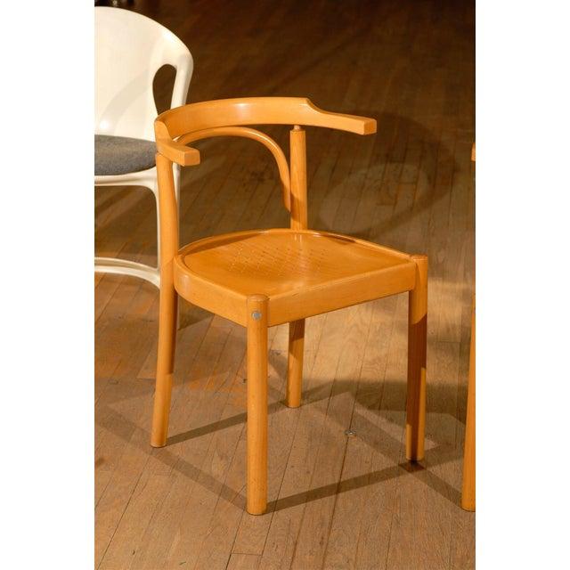 Midcentury Beechwood Armchairs, Hans Wegner - Pair For Sale - Image 4 of 8