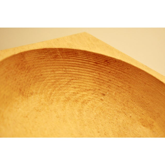 Japanese Sculptural Minimalist Wood Bowl - Image 4 of 6