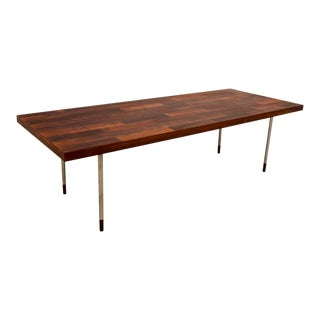 Teak and Stainless Steel Coffee Table for Fristho by Rudolf Bernd Glatzel, 1960s Holland For Sale