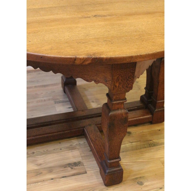 19th Century Country Oak Demi Lune Console Tables - a Pair For Sale - Image 9 of 11