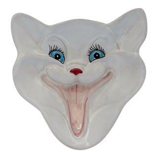 Italian Ceramic Cat Trinket Bowl For Sale
