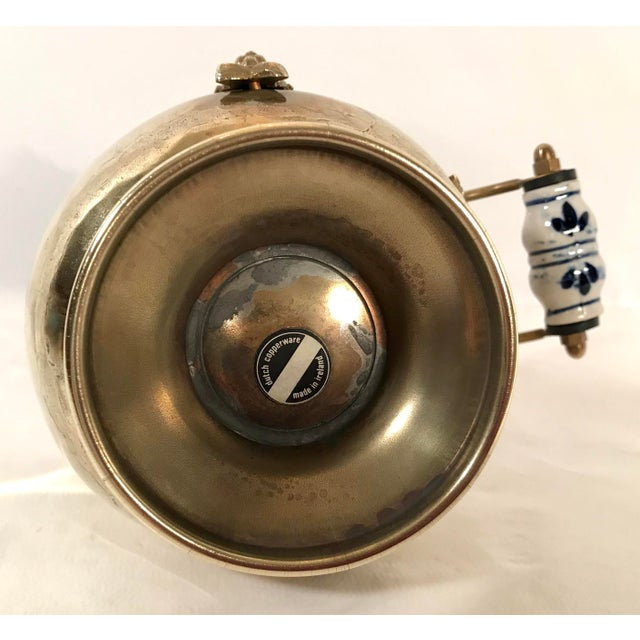 Brass Vintage Irish Brass and Flo Blue Coal Shuttle For Sale - Image 7 of 10