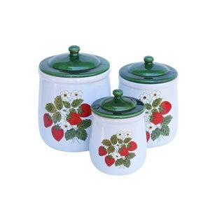 McCoy Ceramic Kitchen Jars - Set of 3 For Sale