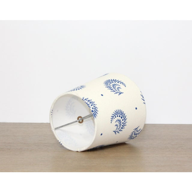 Stunning desmond design tapered chandelier or sconce lamp shade in china blue! Suitable with a variety of decor styles and...