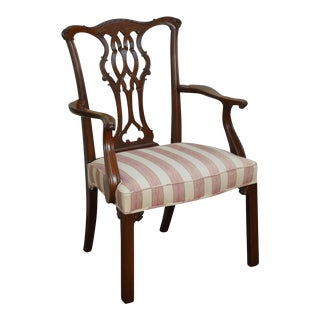 Chippendale Style Custom Mahogany Arm Chair
