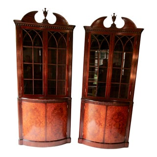 1940's Corner Cabinets by Joseph Gerte-A Pair For Sale