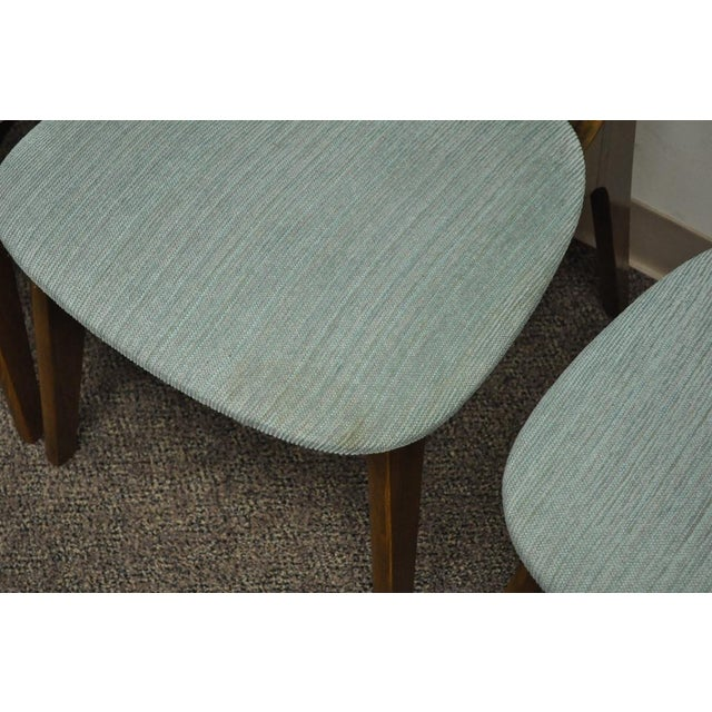 Wood Set of 4 Vintage Mid Century Modern Sculptural Walnut Dining Chairs Danish Style For Sale - Image 7 of 11
