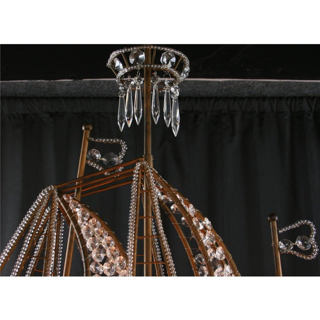 New Large Sailing Ship Crystal Chandelier For Sale - Image 11 of 12