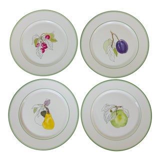 1980s Block Spal Fruit Dessert Plates-Set of 4 For Sale