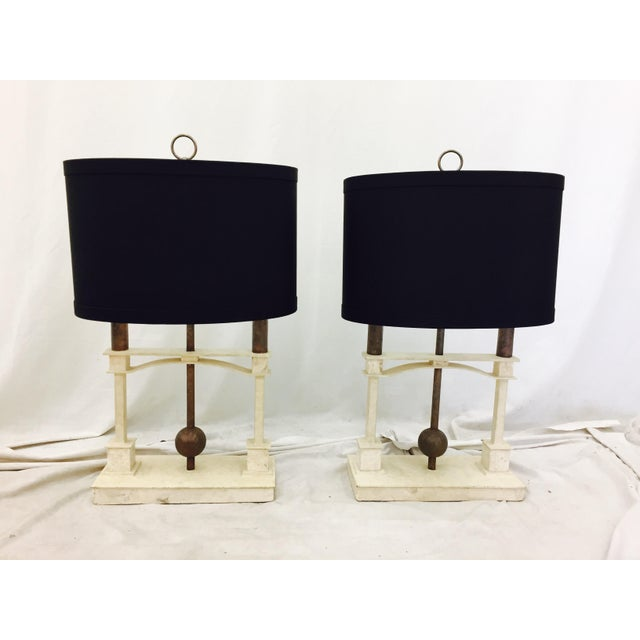 Vintage Mid-Century Modern Art Deco Lamps - a Pair For Sale - Image 10 of 10