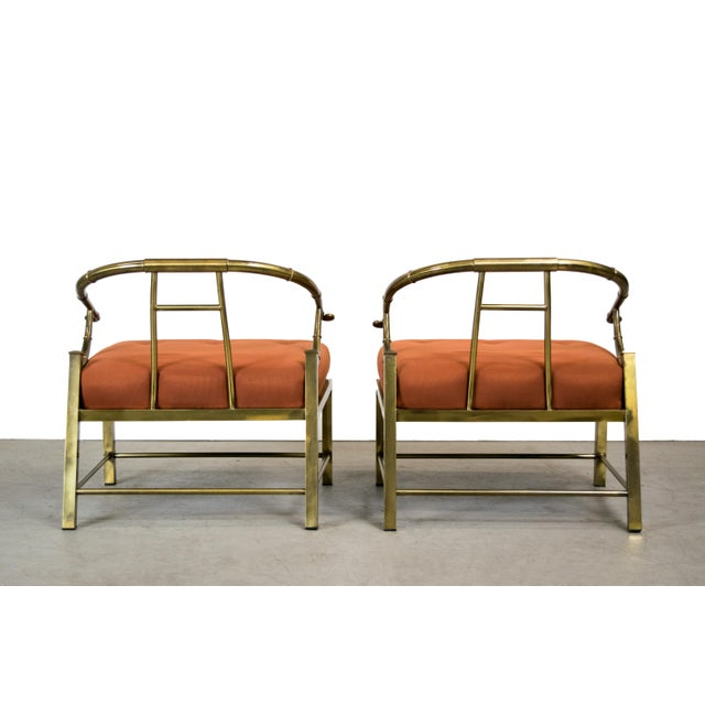 Brass Lounge Chairs by Mastercraft - Pair - Image 6 of 10
