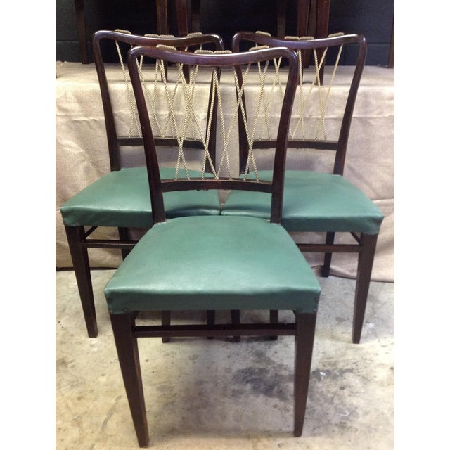 Mid-Century Italian Rope Back Dining Chairs - Set of 6 - Image 4 of 11