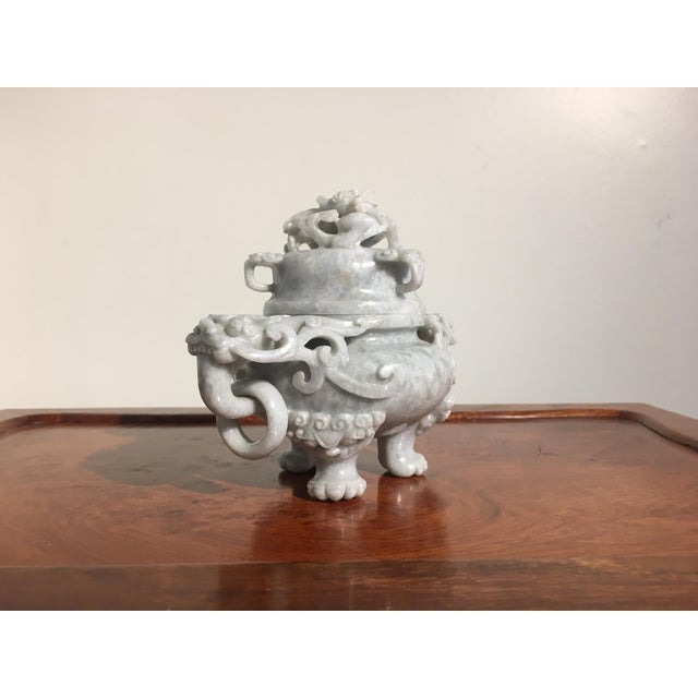 1950s Chinese Gray Nephrite Jade Censer, mid 20th century For Sale - Image 5 of 9