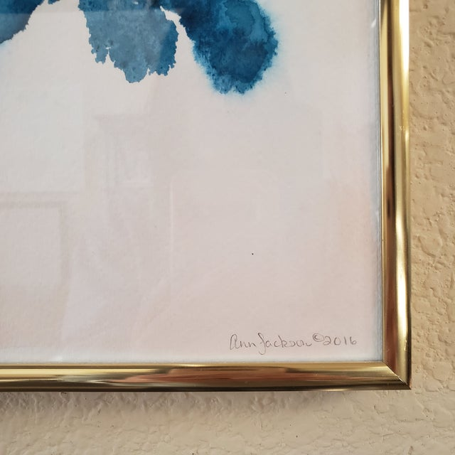 A vibrant watercolor by artist Ann Jackson, a Dallas Texas native. Ann's paintings are cheerful and this piece has a...