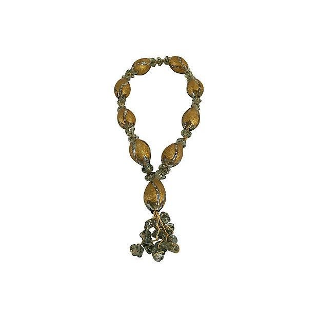 Boho Chic Mediterranean Hand Blown Glass Worry Beads Wall Hanging For Sale In Boston - Image 6 of 6