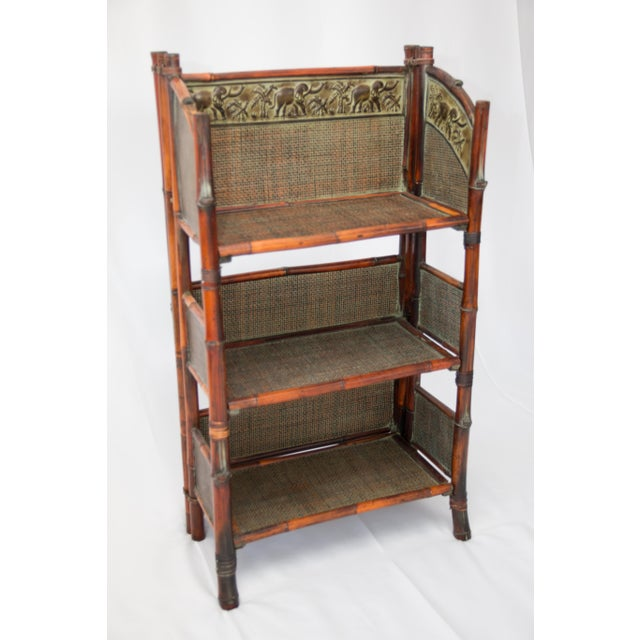 Fabulous Vintage Bamboo Folding Bookcase Shelves Download Free Architecture Designs Scobabritishbridgeorg