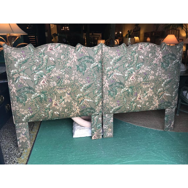 Palm Beach Regency Monkey and Palm Leaf Twin Headboards-Pair For Sale - Image 13 of 13