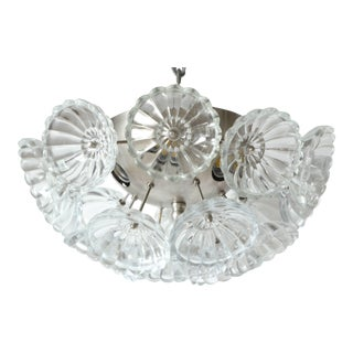 Flower Glass Sputnik Flush Mount or Sconce For Sale