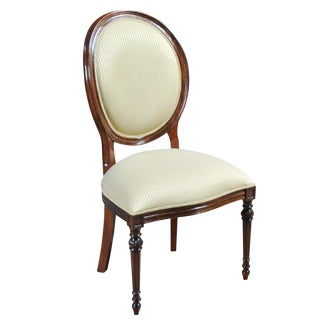 Round Back Mahogany Side Chair For Sale