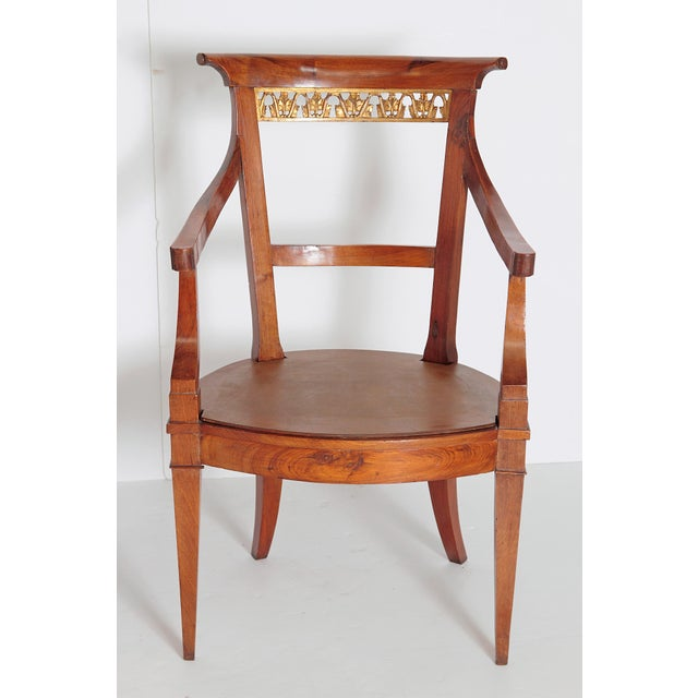 Pair of Italian Neoclassical Armchairs For Sale - Image 4 of 13