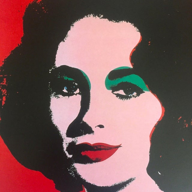 "Andy Warhol Estate Rare 1989 Collector's Lithograph Pop Art Print "" Liz Taylor "" 1964 For Sale In Kansas City - Image 6 of 10"