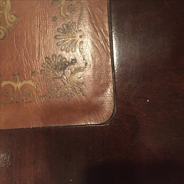 Antique Leather Inlaid Desk - Image 3 of 6