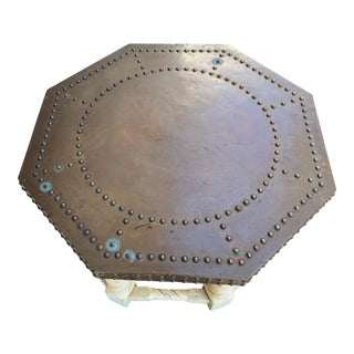 Brown-Saltman Hammered Copper Top Coffee Table For Sale