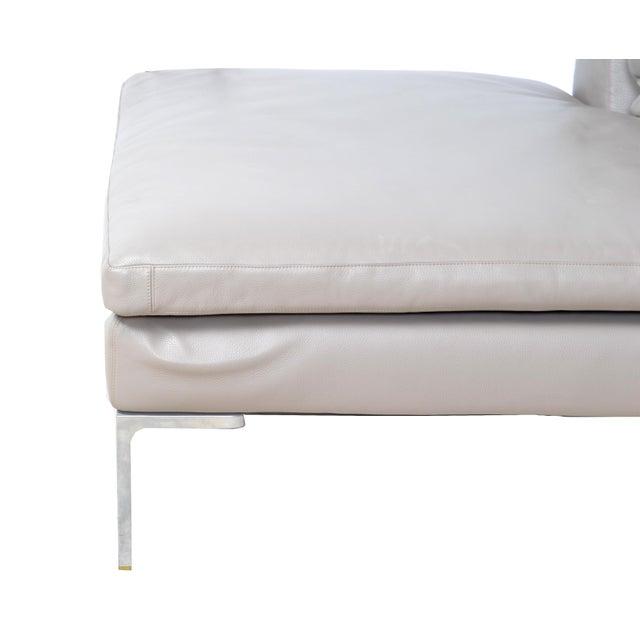 Aluminum Original B & B Italia Leather Sectional Sofa For Sale - Image 7 of 10