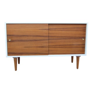 While Lacquered Credenza For Sale