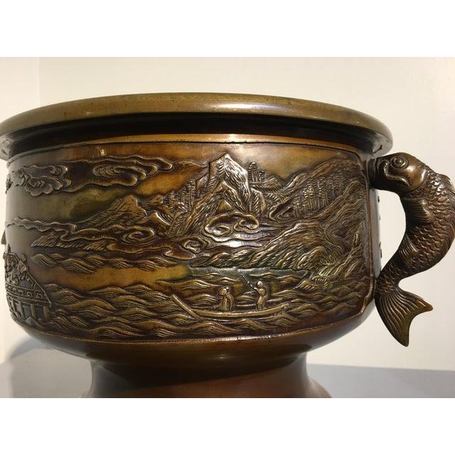 Japanese Cast Bronze Hibachi Jardiniere, Meiji Period For Sale In Austin - Image 6 of 11
