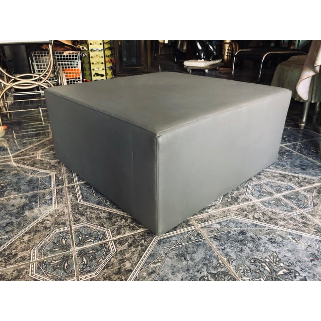 2010s Mid-Century Modern Inspired Blu Dot Ottoman For Sale - Image 5 of 5