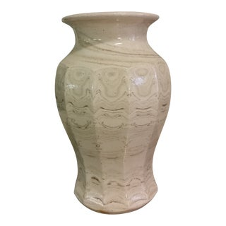 1990s Organic Modern Wizard of Clay Stoneware Vase For Sale