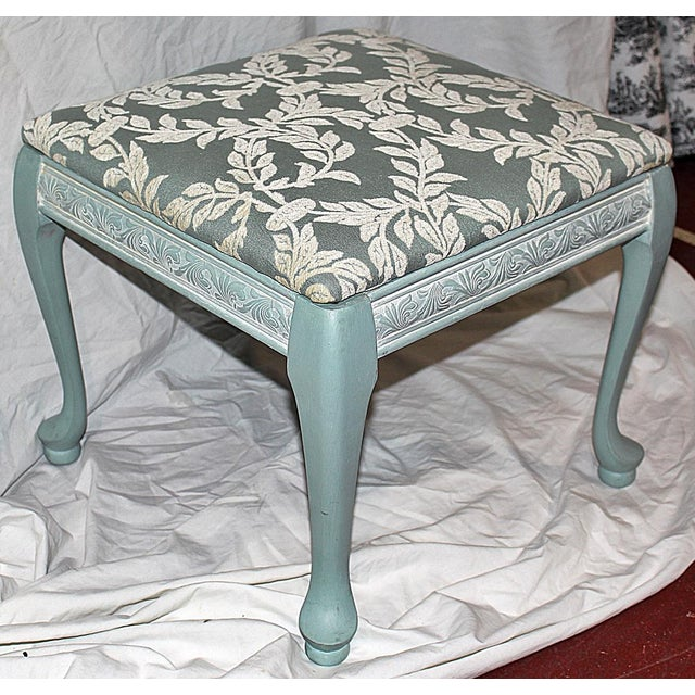 Queen Anne-Style Painted Footstool - Image 2 of 5