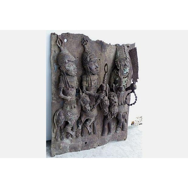 Large Antique African Bronze Relief - Image 7 of 10