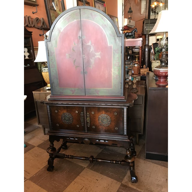 Wood Arch Top Display Cabinet For Sale - Image 7 of 9