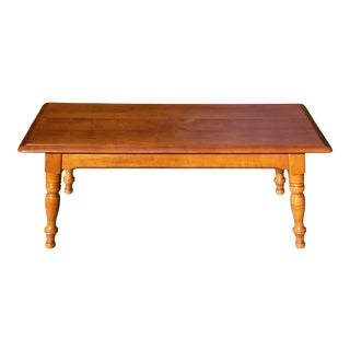 Vintage Heywood Wakefield Solid Maple Colonial Style Coffee Table For Sale