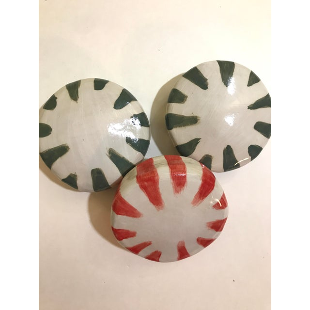 Ceramic Wall Donuts - Set of 3 For Sale In Charleston - Image 6 of 8