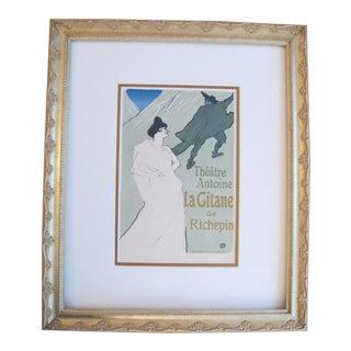 1950 Original Toulouse Lautrec Framed Poster, La Gitane
