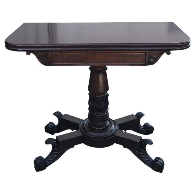 1840s english traditional mahogany fold over table chairish