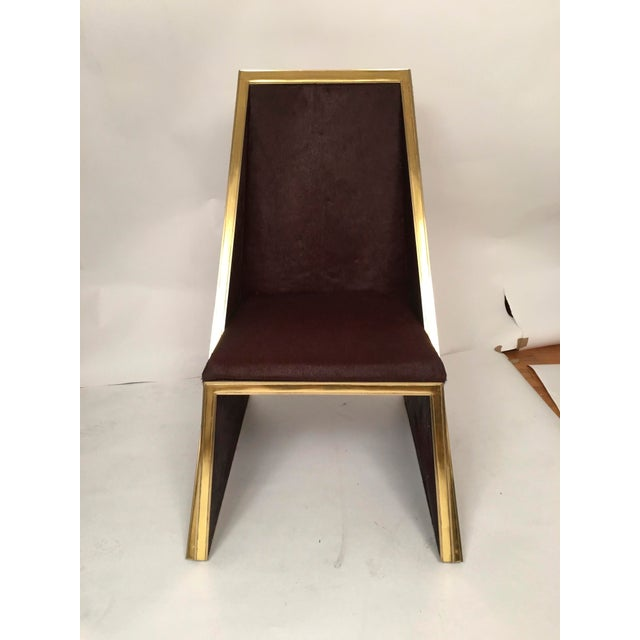 Two Toned Hide Dinning Chair by MarGian Studio For Sale - Image 4 of 11
