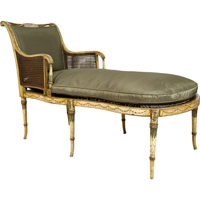 Early 19th Century Duchesse Brisée Painted Fainting Couch For Sale