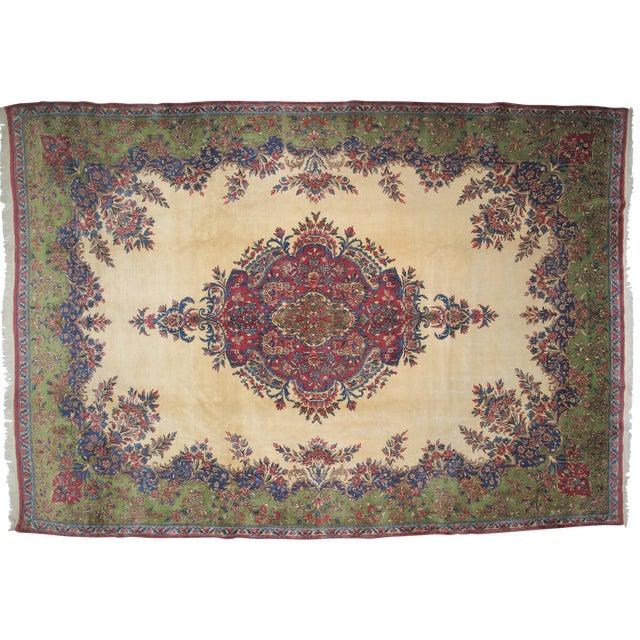 """Lavar Kerman Carpet - 9'6"""" X 13'5"""" - Image 1 of 7"""