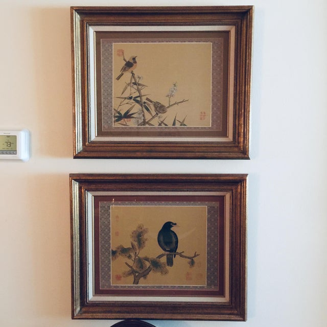 1940s Antique Chinoiserie Framed Prints - a Pair For Sale - Image 5 of 5