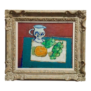 "Jean-Claude Quilici- Nature Morte ""Still Life"" Beautiful French Oil Painting For Sale"