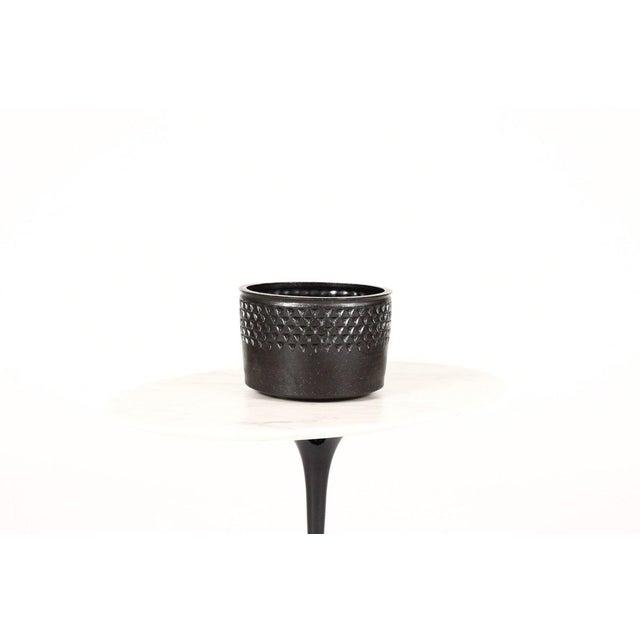 2010s Christian Boehr Ceramic Stoneware Planter —Small Delta Pattern —Black Glaze — P55 For Sale - Image 5 of 5